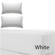 RAYYAN LINEN'S LUXURIOUS 100% EGYPTIAN COTTON WHITE T200 TC EXTRA DEEP FITTED SHEET 41cm DEEP IN ALL SIZES