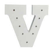 Your Name in Lights - White Wooden Light Up Letters A-Z Wedding Baby Standing or Wall Mounted Decoration