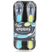 Closer To Nature First Easy Wean Spoons 2 Pack Blue & Green