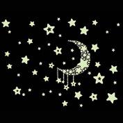 Moon Star Glow in Dark Wall Sticker