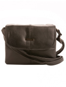 Milano Patch Leather Small Cross Body Bag, Black
