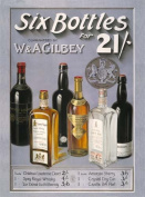 FRENCH VINTAGE METAL SIGN 40x30cm W AND AGILBEY SIX BOTTLE WHISKY ALCOHOL