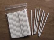 "50 x Carlton 152mm (6"") White Paper Lollipop Sticks Cake Pops Craft Sticks"