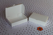 50 Budget White cake favour boxes 100x60x30mm