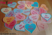 24 X PRE-CUT LOVE HEARTS EDIBLE RICE / WAFER PAPER CUP CAKE TOPPERS WEDDING BIRTHDAY PARTY DECORATIONS