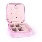 Portable Travel Jewellery Organiser Storage Box Case Pink
