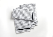 A Pack Of Four Large Heavy Duty Egyptian Cotton Terry Tea Towels in Black