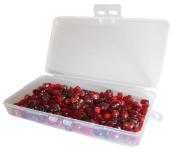 Lampworked Glass Bead Mix 200-Grammes About 150-200 Beads In Clear Storage Case