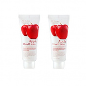 3w Clinic Moisturising Apple Hand Cream 100ml 2pcs, All Skin Type