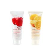 3w Clinic Moisturising Apple Hand Cream 100ml+lemon Hand Cream 100ml,total 2pcs,All Skin Type