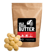 Raw Organic Cocoa Butter Wafers, Unrefined, Non-Deodorised, Food Grade, Fresh, Excellent For Cooking and Skincare