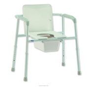 Commode Heavy Duty Xtra Wide Steel 200kg by Invacare