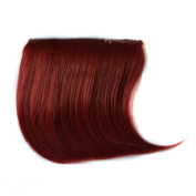Abwin Coloured Clip in Bangs / Burgundy