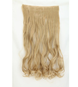 "Fashion Hairpiece Curly Ash Blonde 17""(43cm) 3/4 Full Head One Piece 5clips Clip in Hair Extensions Long Poplar Style for Xmas Gifts"