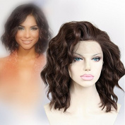 Cbwigs 2016 New Look Fibre Wave Wigs Synthetic Lace Front Wigs 150% Density Brown #6/8