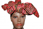 Red Royalty African Headwrap