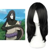 "Mcoser 17.7"" 45cm Black Long Straight Anime Cosplay Wig-- Naruto Orochimaru Wig"