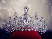 Sunshinesmile Crystal Tiara Crowns Hair Jewellery Rhinestone Wedding Pageant Bridal Princess Headband