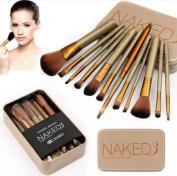 Nestling® 12 Pcs Bamboo Handle Makeup Brushes Kabuki Powder Foundation blusher Cosmetic Brushes With Box
