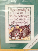 Sleeping Kitty Counted Cross Stitch 13cm X 18cm Kit