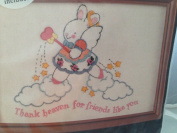 Embroidery Kit - Thank Heaven for Friends Like You - Bunny