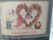 Embroidery Kit - Life Is Wonder Full - Bunny and Chicks