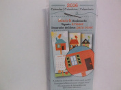 Stitch It 2016 Calendar Bookmarks *Birdhouses*