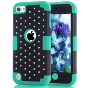 iTouch 5,iPod Touch 6 Case,SAVYOU Bling Series 3 in 1 Hybrid Shockproof Protective Armour Cover Case for Apple iPod touch 5 6th Generation