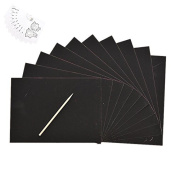 Welecom(TM) Kids Education Toy 10 Sheets Scratch Drawing Paper With A Drawing Stick