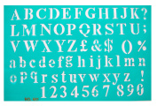 The Master Template Block Alphabet Stencil Set