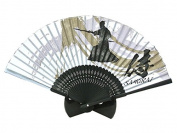 Japanese High Quality Samurai Ver.2 Handheld Folding Silk Fan Bamboo Frame (Made in Japan)