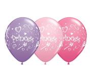 28cm Princess Latex Balloons - Set of 6