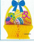 Flomo Easter Basket Honeycomb Decoration, 37cm