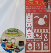 Easter Glass Etching Stencils, Reusable Over N Over + Free How to Ebook & Patterns on CD