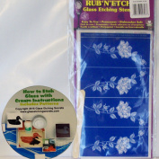 Detailed Roses Glass Etching Stencil, Rub N' Etch + Free How to Etch ebook on CD