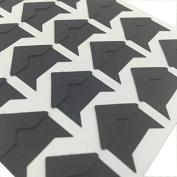 Chris-Wang 10 Sheets Black DIY Scrapbook Album Photo Mounting Corners Sticker Self-Adhesive Embossed Cardstock