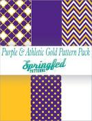 PURPLE & GOLD THEME PACK #2 Craft Vinyl Team Inspired Pattern Craft Vinyl Pack