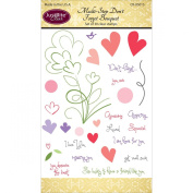 Justrite Papercraft Clear Stamps 10cm x 15cm -Multi-Step Don't Forget Bouquet