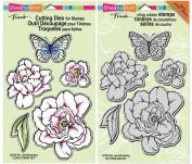 Stampendous Lovely Garden Cling Stamp & Die Set - 2 Item Bundle