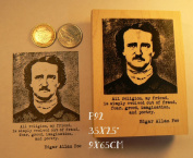 P92 Edgar Allan Poe rubber stamp