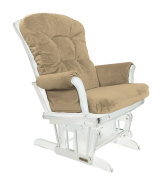 Shermag Recliner Glider Chair, White Sarrasin