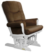 Shermag Recliner Glider Chair, White Pecan