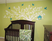 Pop Decors PT-0116-1VC Beautiful Wall Decals, Big Tree with Love Birds, 250cm