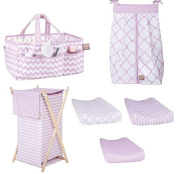 Trend Lab Orchid Bloom 4-Piece Accessorise Gift Set