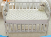 """Crib Mattress Protector by tinyfeet -Fitted, Waterproof, Soft, Quilted, Size -130cm x 70cm x 9"""" - High Absorbency, Stain Resistant and Allergy Proof."""