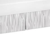 Sweet Jojo Designs Grey and White Wood Grain Toddler Bed Skirt for Woodland Animals Kids Childrens Bedding Sets