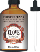 Clove Essential Oil 120ml With a Glass Dropper - 100% Pure and Natural Clove Oil with Premium Quality & Therapeutic Grade