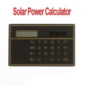 Constructan(TM) 8 Digits Solar Power Thin Mini Small Card Style Calculator,5pcs/lot