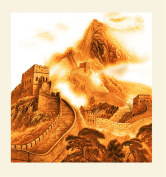 INK WASH the Great Wall of China Gold Artwork Prints the President of the People's Republic of China Xi jinping Office Painting Wall Art Decoration for Home Living Room Office Decor 30x30