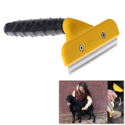 Constructan(TM) Y Shape Pets Removal Comb Depilating Grooming Fur Hair for Dogs Cats Cutting Tool Stainless Steel Products for Animals